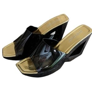 Colin Stuart abstract wedge sandals sz 9.5/10